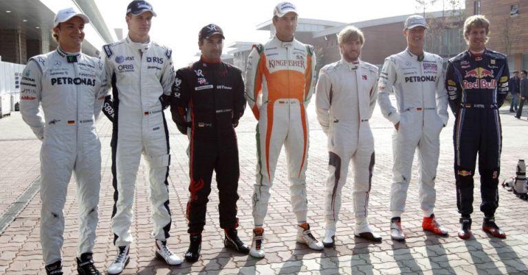 Hukenberg Glock Heidfeld Sutil Vetel Schumacher Rosberg