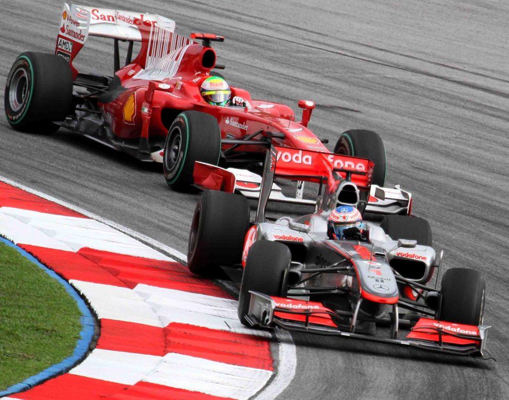Jenson Button Felipe Massa 2010 Malaysia