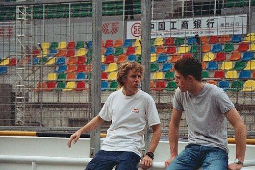 Paul di Resta Sebastian Vettel