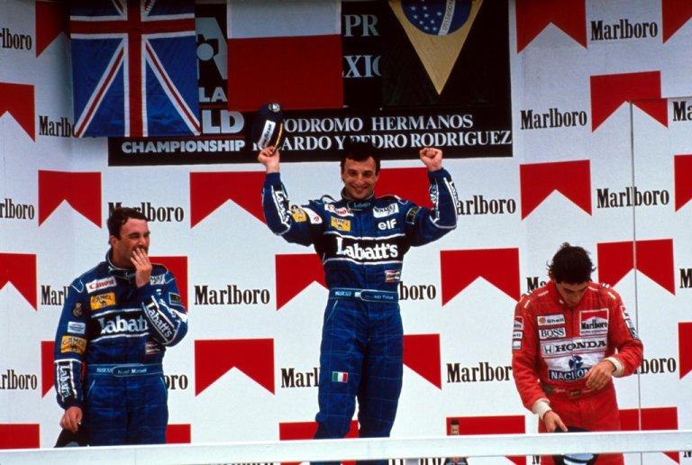 Mansell, Patrese Senna GP do México 1991