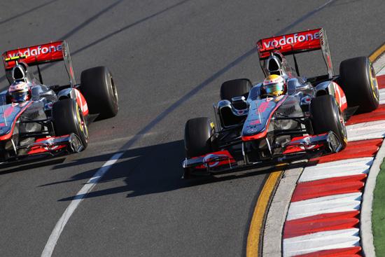 Hamilton Button McLaren Australia 2011