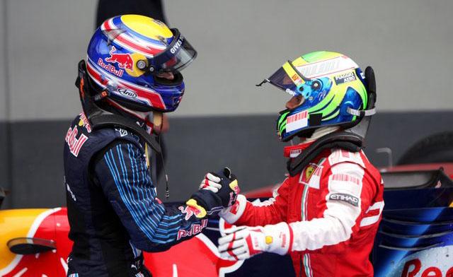 Massa Webber Nurburgring, Germany, Sunday 12 July 2009.