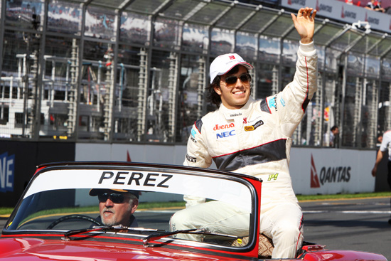 Perez estreia gp da australia 2011