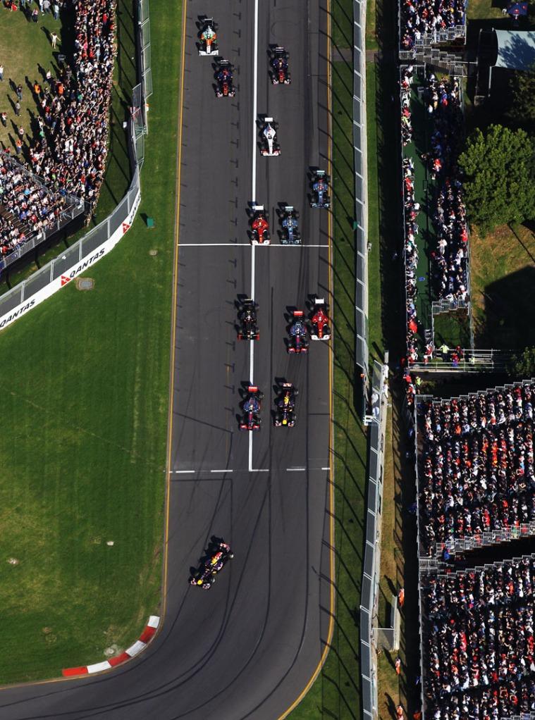 Largada do GP da Austrália 2011