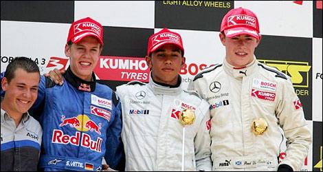 Vettel  Hamilton Di Resta f3 euroseries