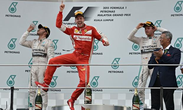Ferrari's German driver Sebastian Vettel